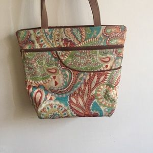 Floral Embroidered Tote